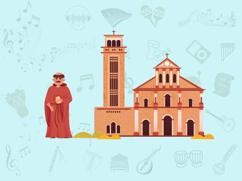 christian monk and monastery