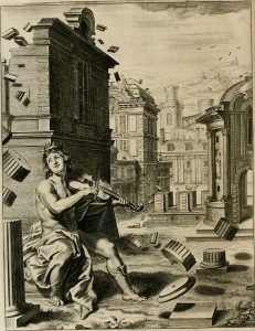 amphion playing his lira da braccio