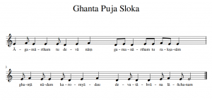 score of the ghanta puja sloka