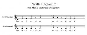 example of parallel organum from musica enchiriadis