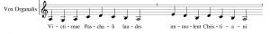 example of vox organalis - parallel organum
