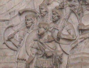 cornu players from the Trajan's column