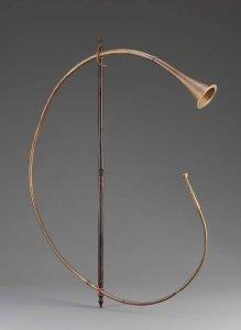 cornu from pompeii, replica from the Museum of fine arts, Boston