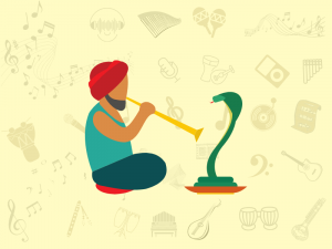 musical traditions and instruments of Indian snake charmers