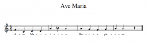 transposition of ave maria in c clef gregorian chant