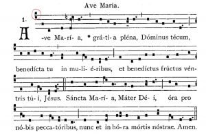 ave maria gregorian chant score c clef