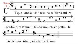 ut queant laxis f clef gregorian chant
