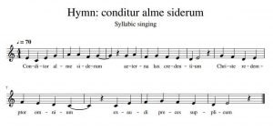 an example of syllabic singing