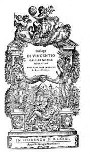 florentine camerata galilei treatise
