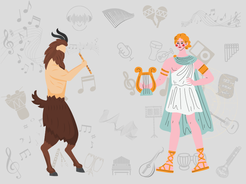 marsyas and apollo myth flute and lyre